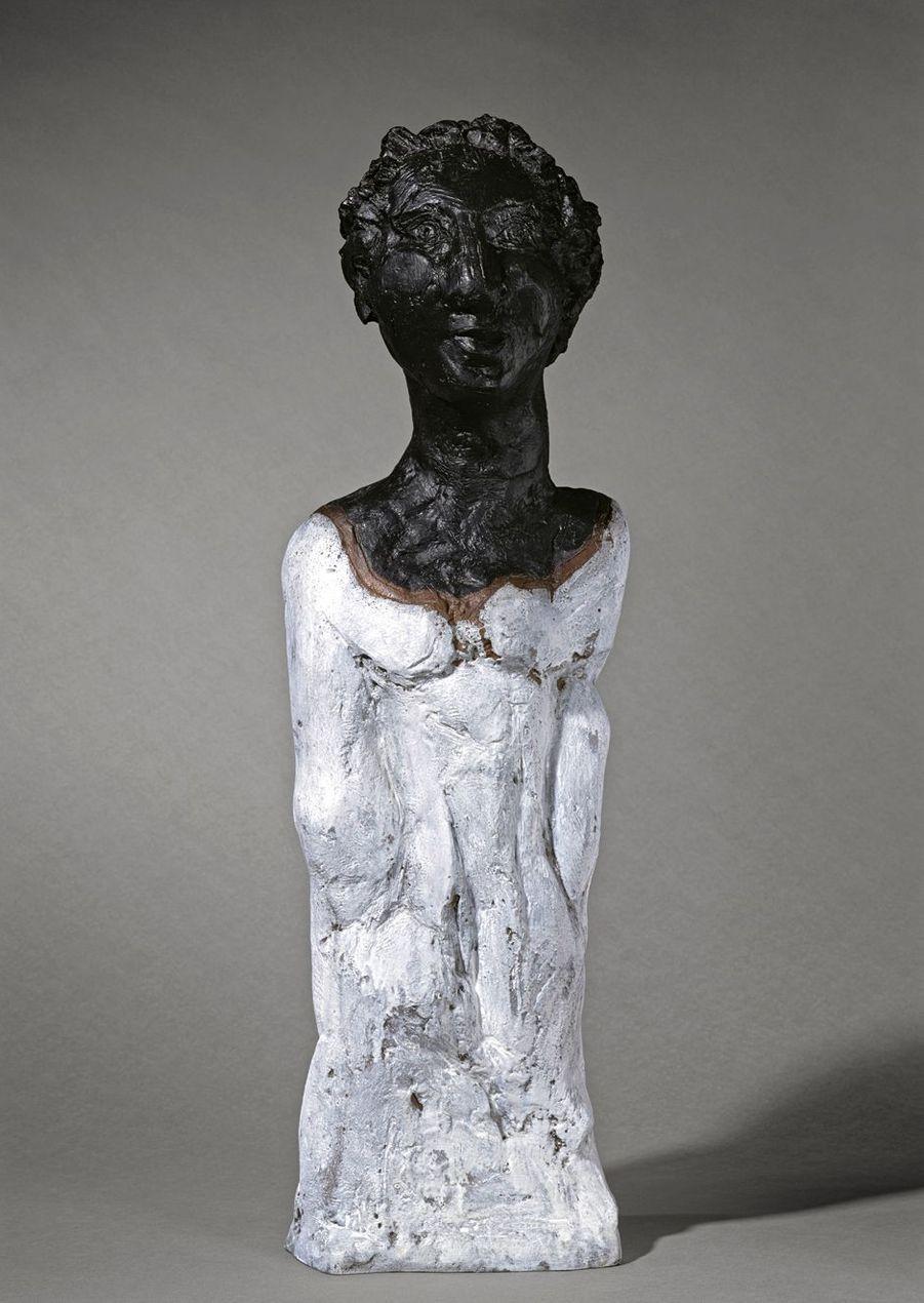 """Markus Lüpertz, """"Etrusque"""", 2001. Bronze peint."""