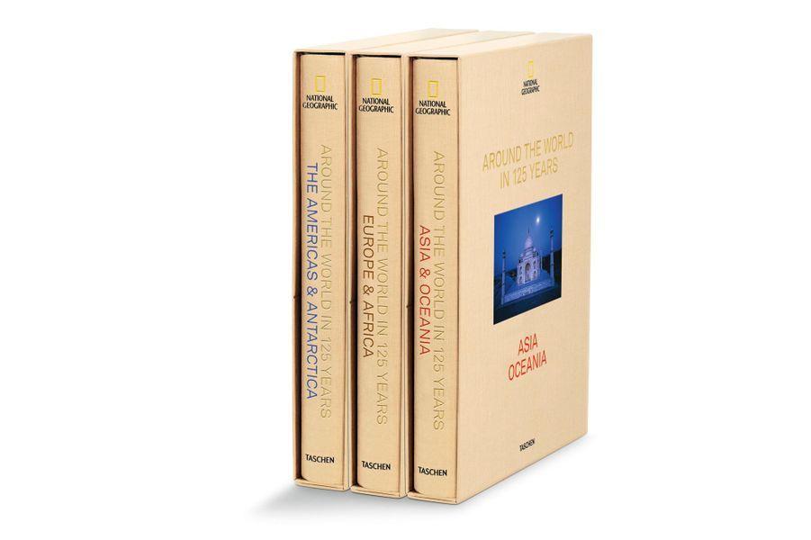 National Geographic. Le Tour du monde en 125 ans sous la direction de Reuel Golden Relié, 3 vol. sous coffret, 28,0 x 39,0 cm, 1468 pages € 399