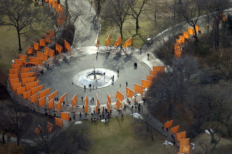"""""""The Gates"""" à New York en 2005."""