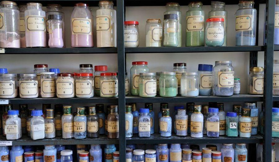 Quelques pigments sur les milliers utilisés.