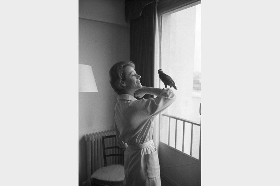 Annie Girardot et son mainate