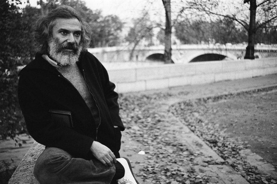 Georges Moustaki au bord de la Seine