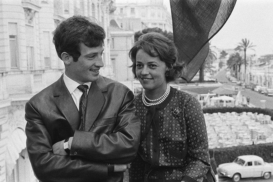 Jeanne Moreau et Jean Paul Belmondo