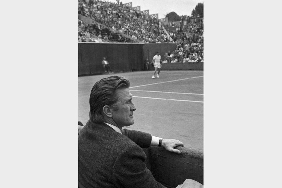 Kirk Douglas à Roland Garros