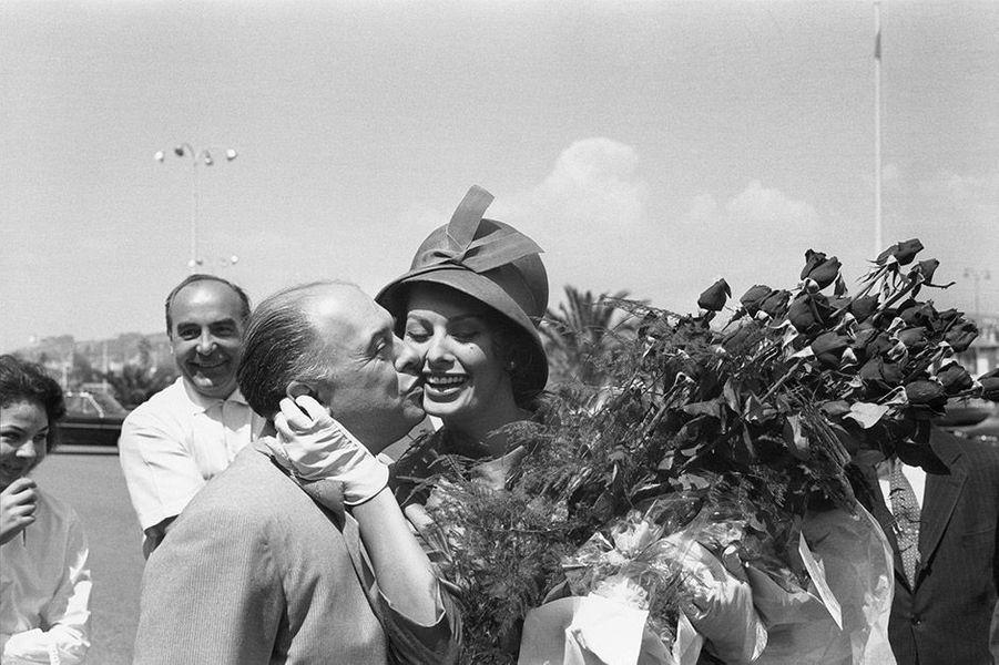 Le 14ème Festival de Cannes 1961 avec Sophia Loren