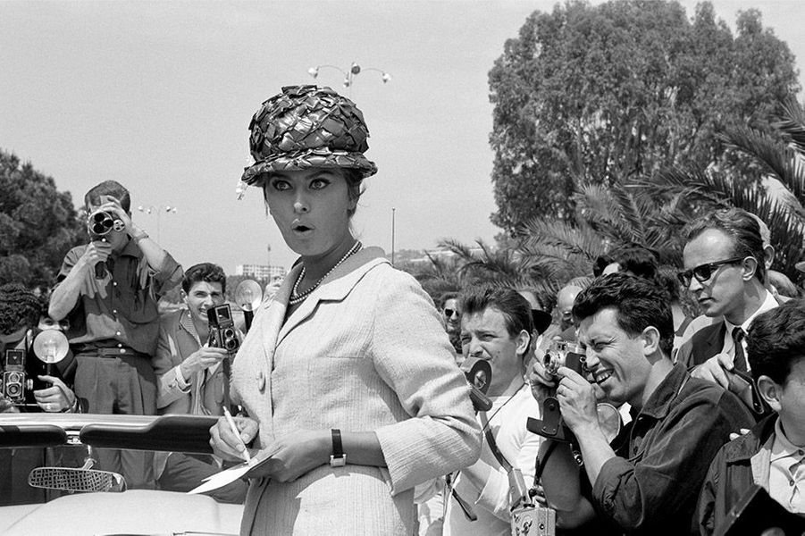 Le 14ème Festival de Cannes 1961 en présence de Sophia Loren