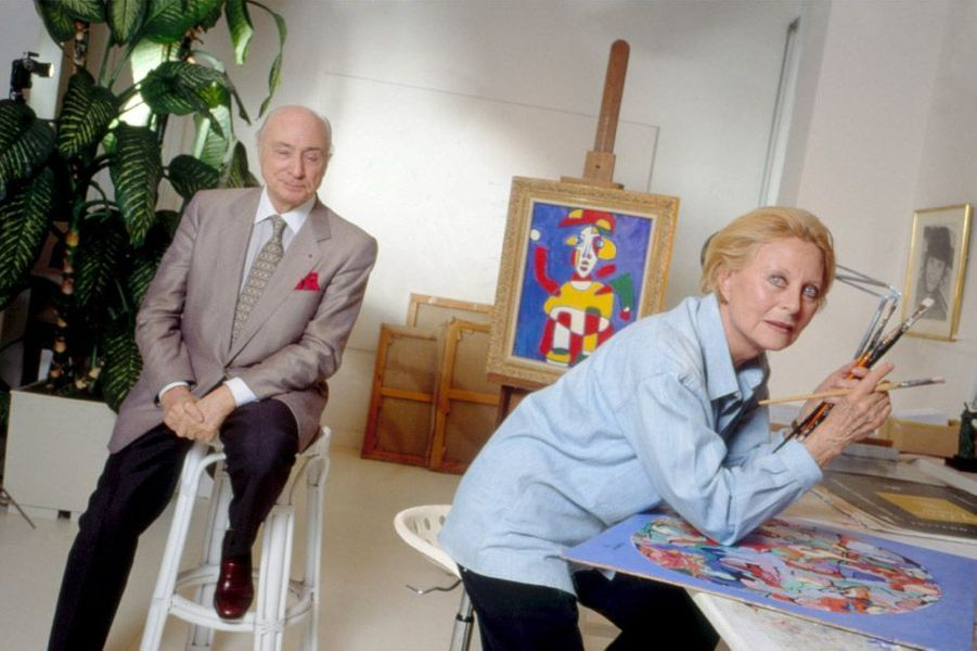 Michèle Morgan et Gérard Oury
