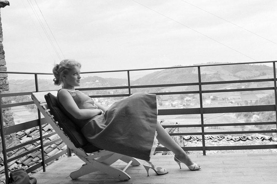 Romy Schneider au 10ème Festival de Cannes 1957