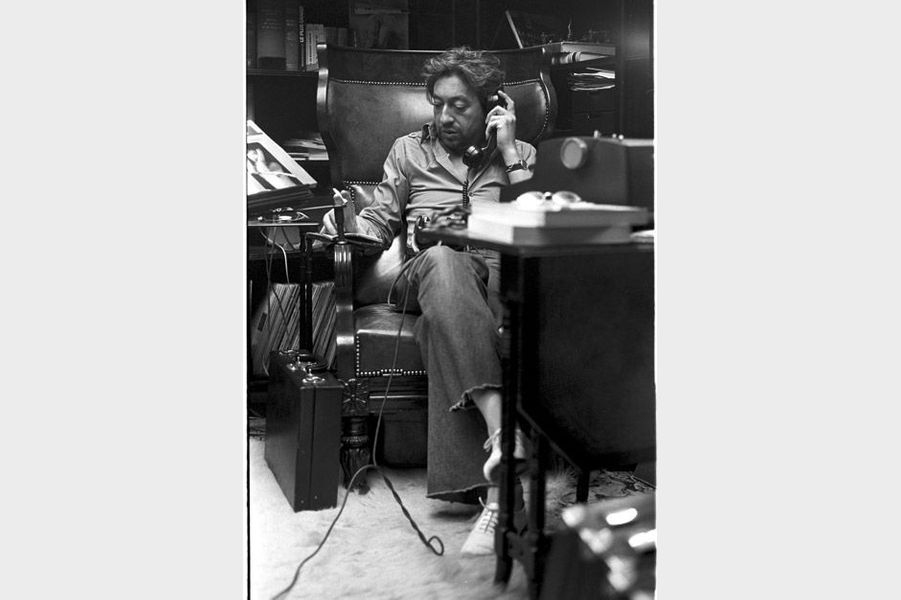 Serge Gainsbourg chez lui
