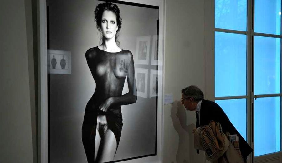 Stephanie Seymour, model, New York City, May 9, 1992 tirage argentique, tiré en 1997 Estimé entre 120 000 et 180 000 euros