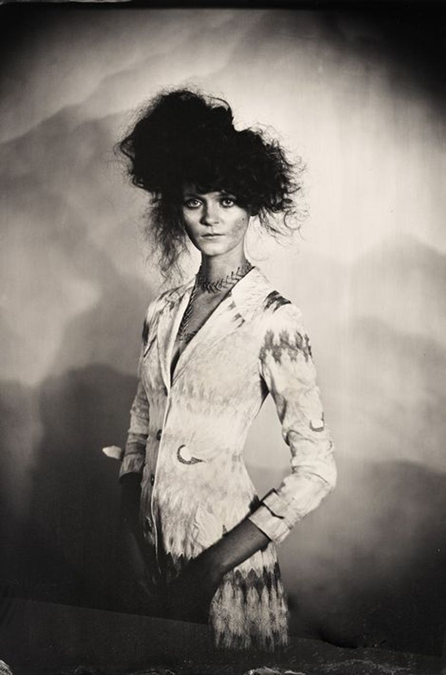 «Portrait de la top model Joanna Prztula habillée Missoni. Stylisme par Cynthia Altoriso, maquillage par Cheyenne Timperio, coiffure par Yasutaké Kosaka. 2015»