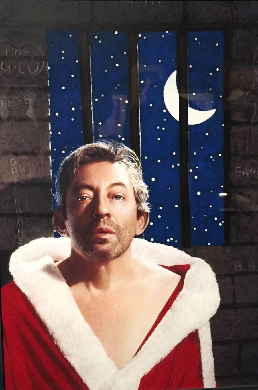 Serge Gainsbourg vu par Pierre et Gilles.