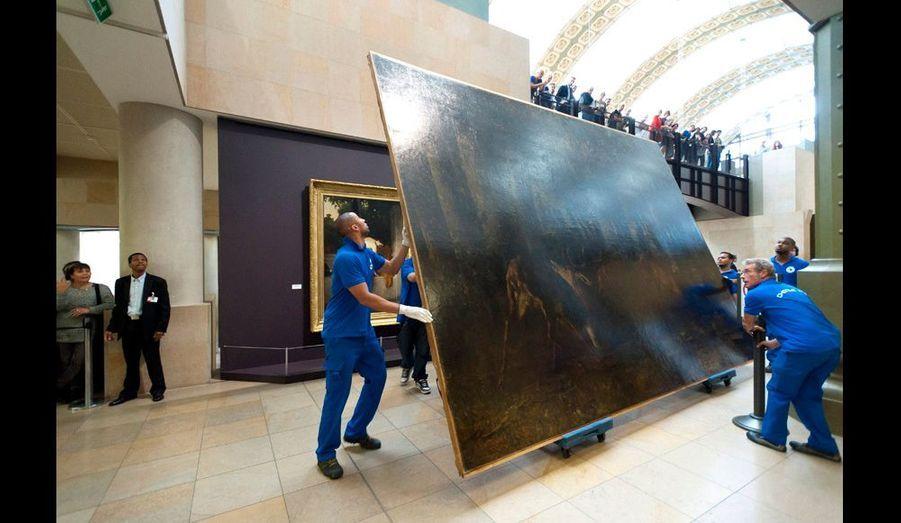 Cette toile de Gustave Courbet 1861 mesure 3,5 mètres sur 4,12 mètres, sans le cadre. Sa valeur ? Inestimable...
