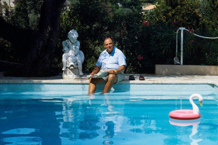 Raymond Barre, ancien premier ministre et candidat à l'élection présidentielle de 1988, Cap Ferrat (été 1987)