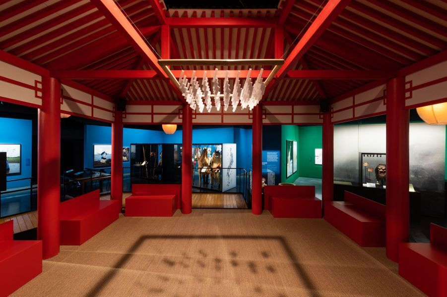 Scénographie de l'exposition Yokainoshima, esprits du Japon