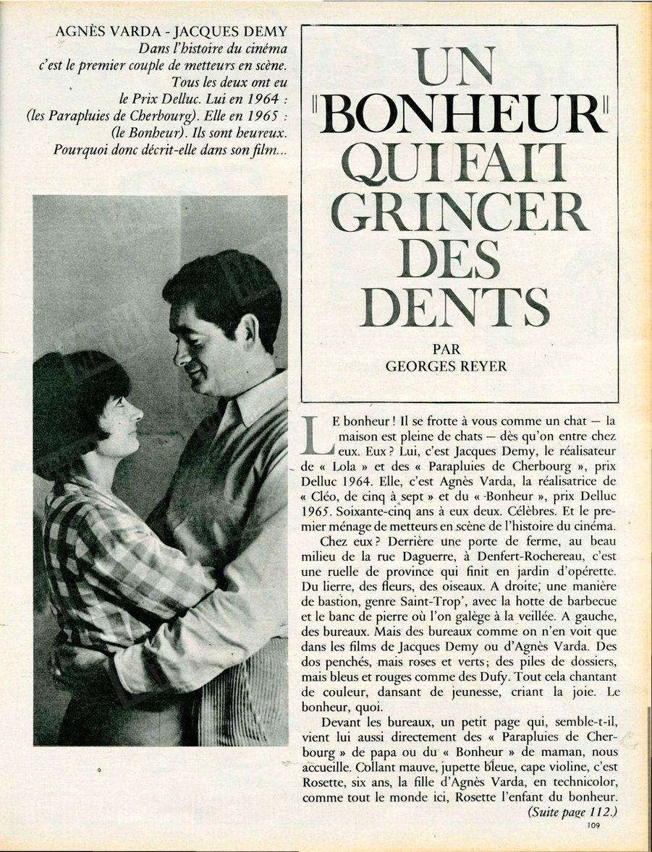 Agnès Varda et Jacques Demy, leur premier rendez-vous avecParis Match - n°831, 13 mars 1965