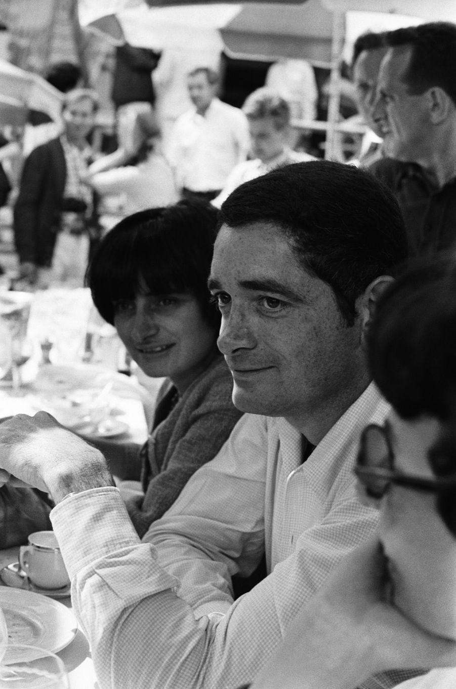 Agnès Varda et Jacques Demy au Festival de Cannes en mai 1965.