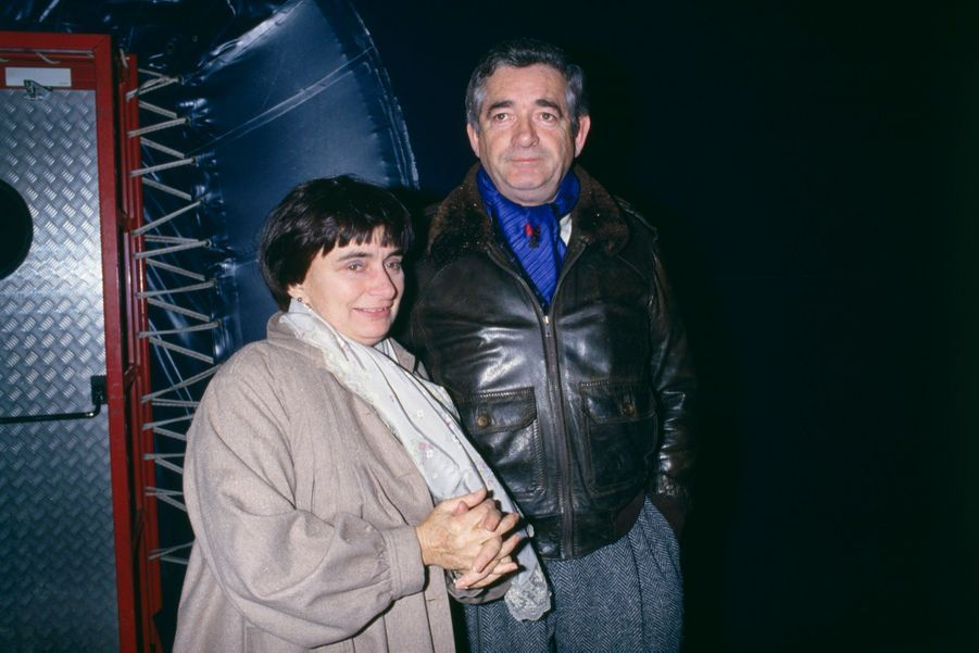 Agnès Varda et Jacques Demy lors d'un concert de Barbara en 1986.