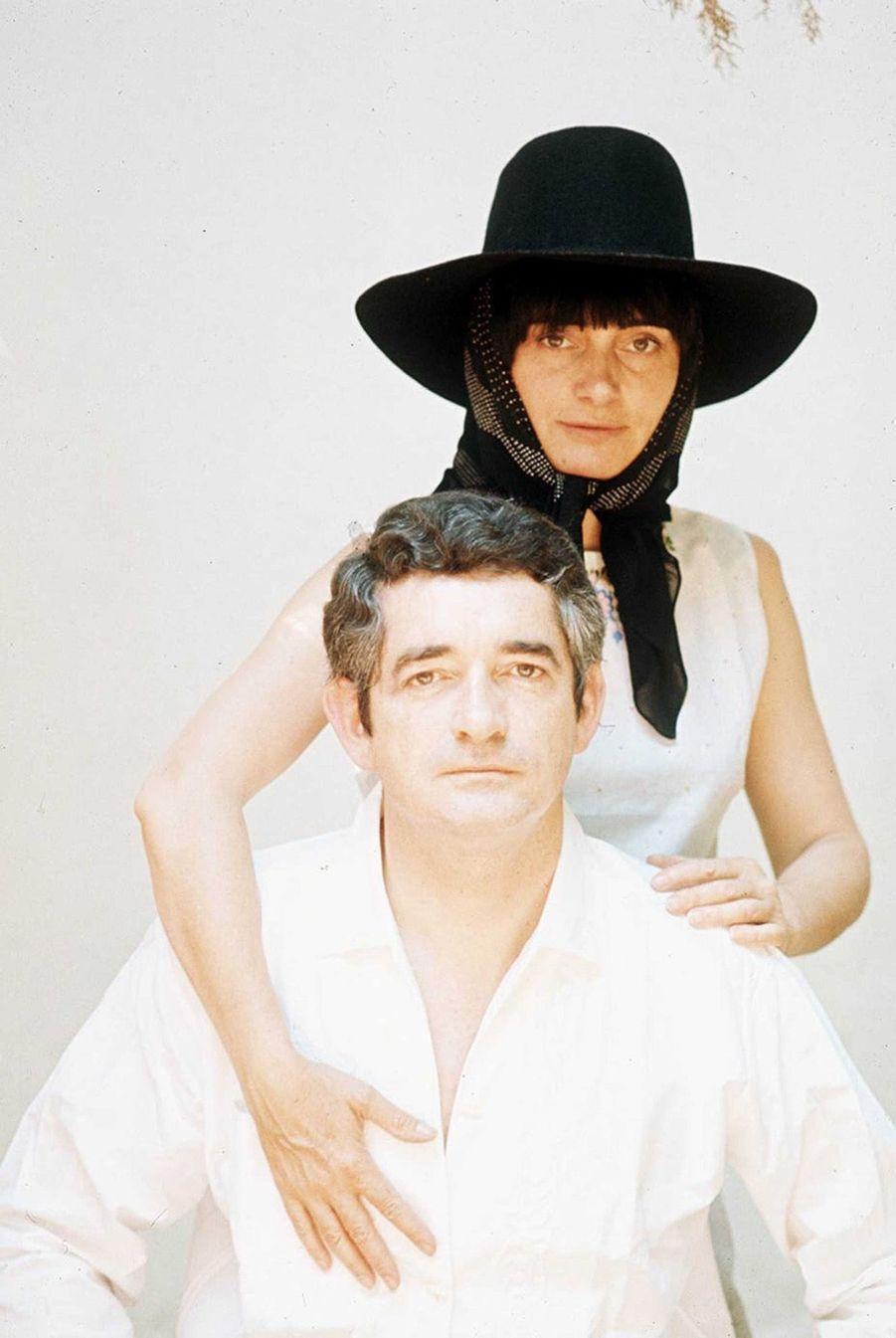 Agnès Varda et Jacques Demy en 1973.