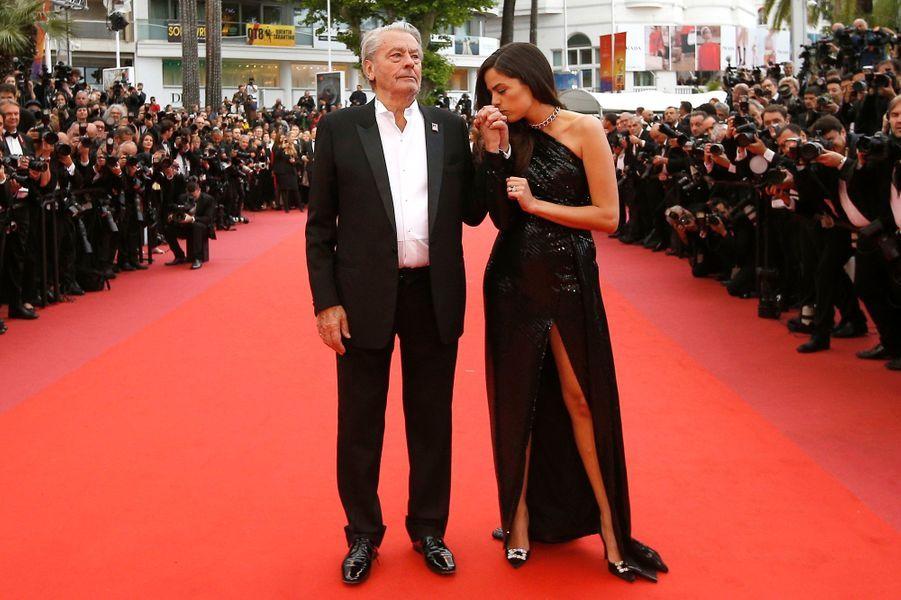 Alain et Anouchka Delon lors du 72e Festival de Cannes.