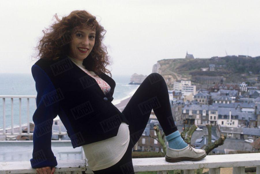 Anémone pose pour Match le 14 mars 1988, deux jours après avoir emporté le César de la meilleure actrice...
