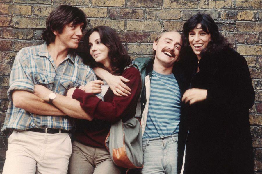 Anémone en 1981 dans «Viens chez moi j'habite chez une copine» avec Bernard Giraudeau, Thérèse Liotard et Michel Blanc