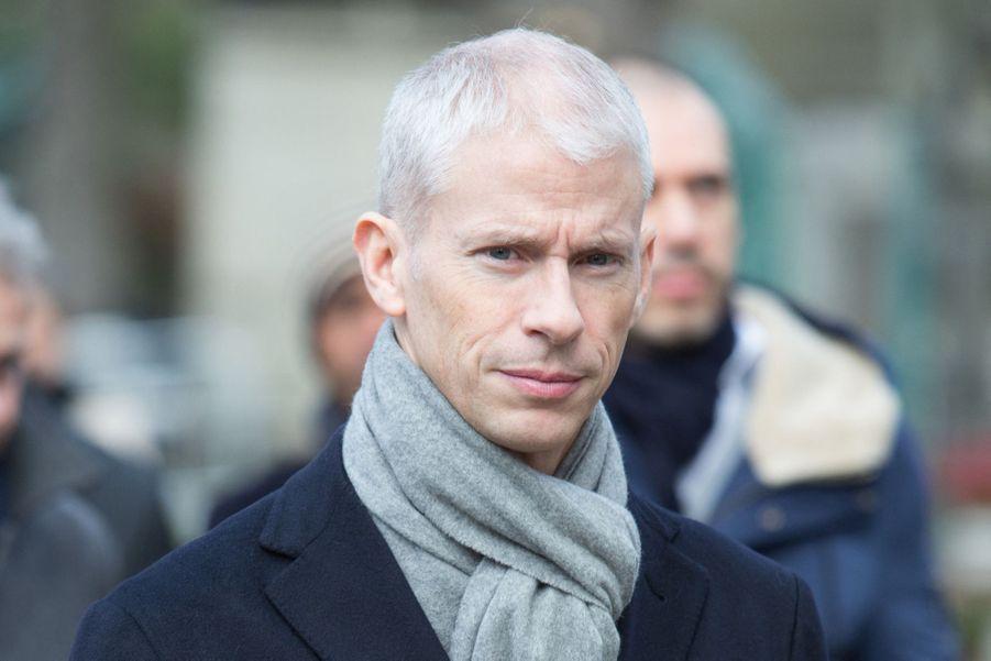 Le ministre de la Culture Franck Riester aux obsèques d'Anna Karina, au cimetière du Père Lachaise, samedi 21 décembre 2019.