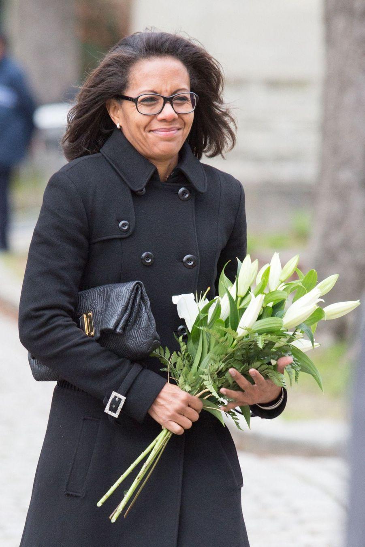 Audrey Pulvar aux obsèques d'Anna Karina, au cimetière du Père Lachaise, samedi 21 décembre 2019.