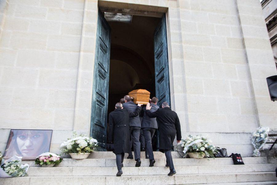 Obsèques d'Anna Karina, au cimetière du Père Lachaise, samedi 21 décembre 2019.