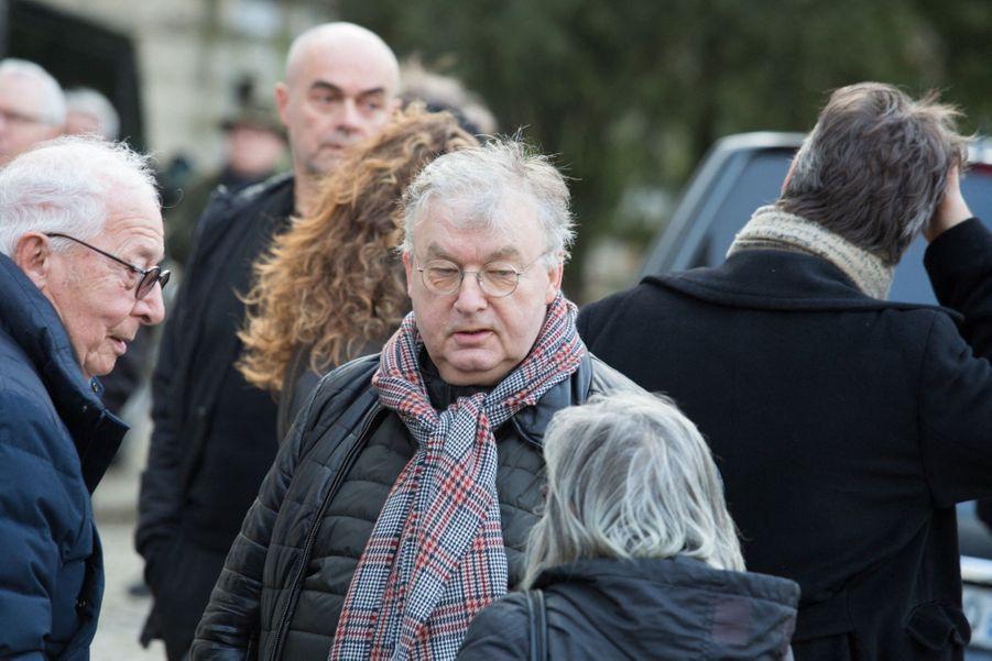 Dominique Besnehard aux obsèques d'Anna Karina, au cimetière du Père Lachaise, samedi 21 décembre 2019.
