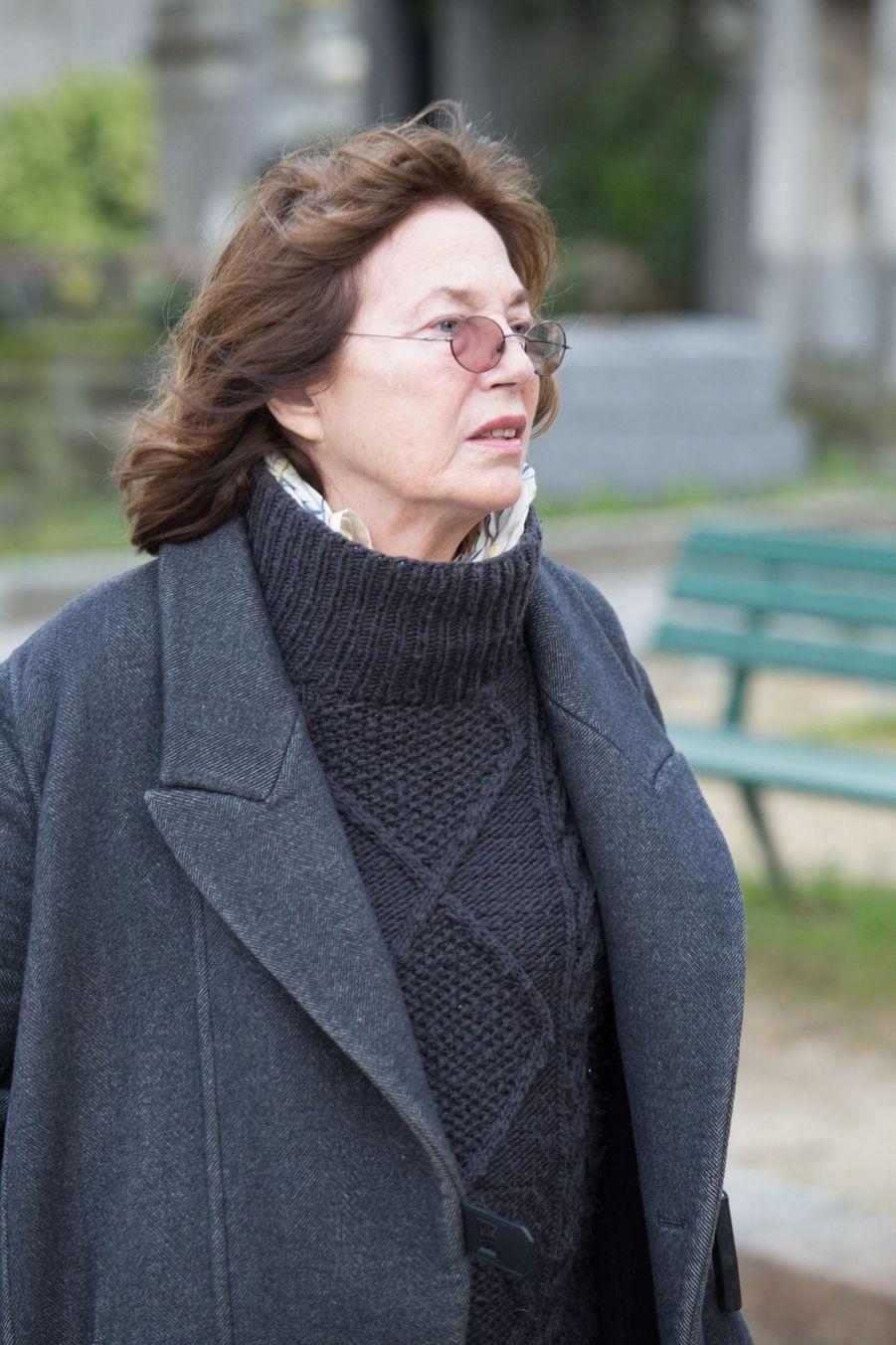 Jane Birkin aux obsèques d'Anna Karina, au cimetière du Père Lachaise, samedi 21 décembre 2019.