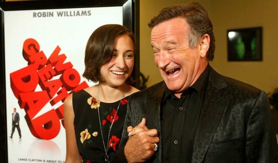 Robin William et sa fille à la première du film World's Greatest Dad à Los Angeles.