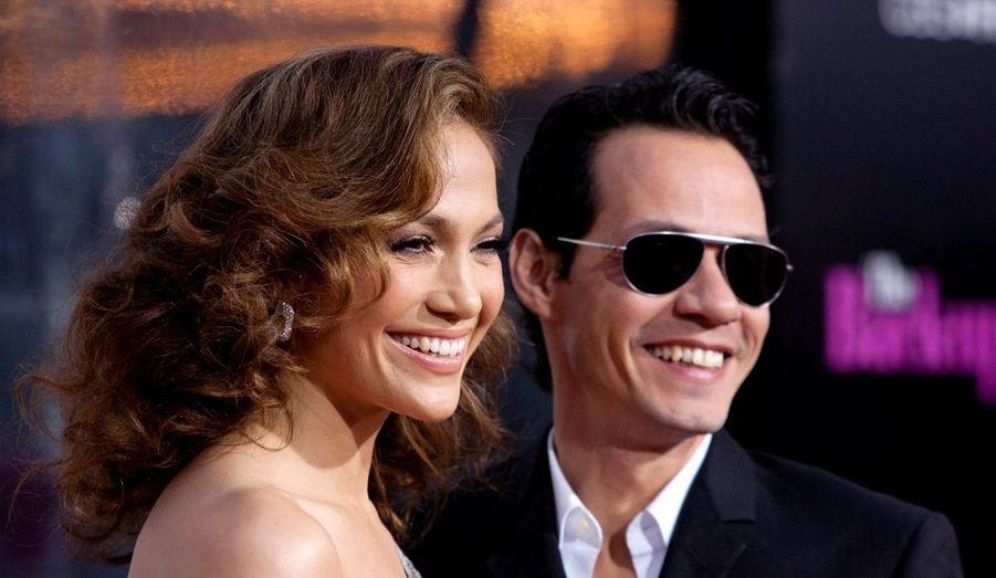 Jennifer Lopez et son mari à l'avant-première de The Back-up Plan.