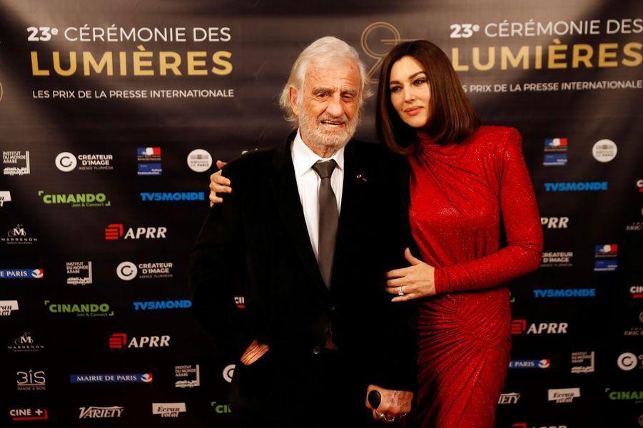 Jean-Paul Belmondo et Monica Bellucci aux Lumières de la presse internationale