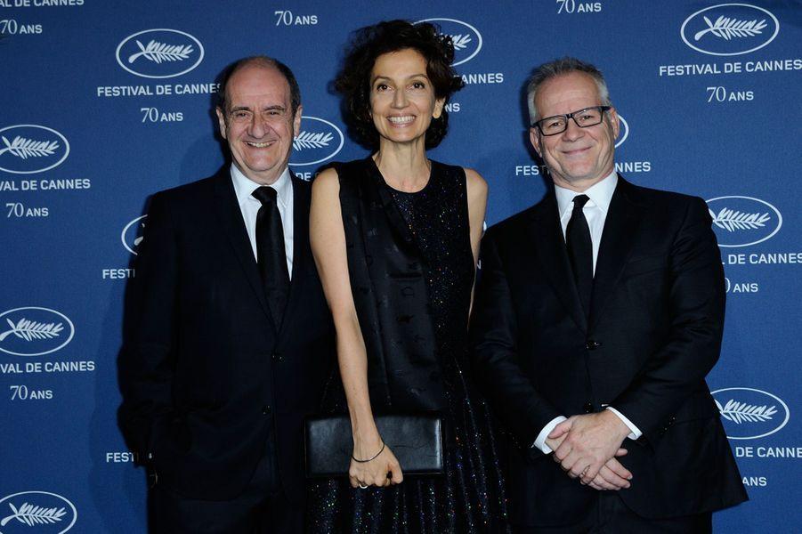 Pierre Lescure, Audrey Azoulay et Thierry Frémaux.