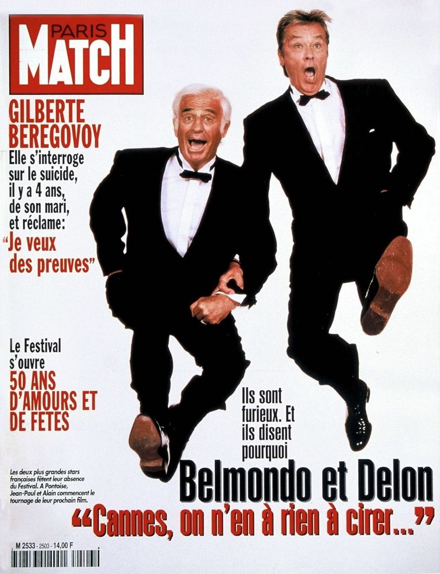 MAI 1997. La une de Paris Match avant le 50e Festival de Cannes, où les deux monstres sacrés n'avaient pas été invités.