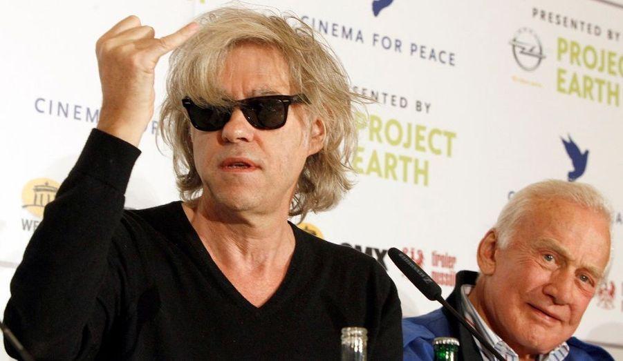 Le chanteur et l'astronaute ont également assisté à la soirée «Cinema for Peace»