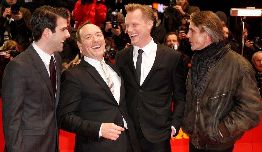 Zachary Quinto, Kevin Spacey, Paul Bettany et Jeremy Irons sont venus défendre «Margin Call», de J.C. Chandor.