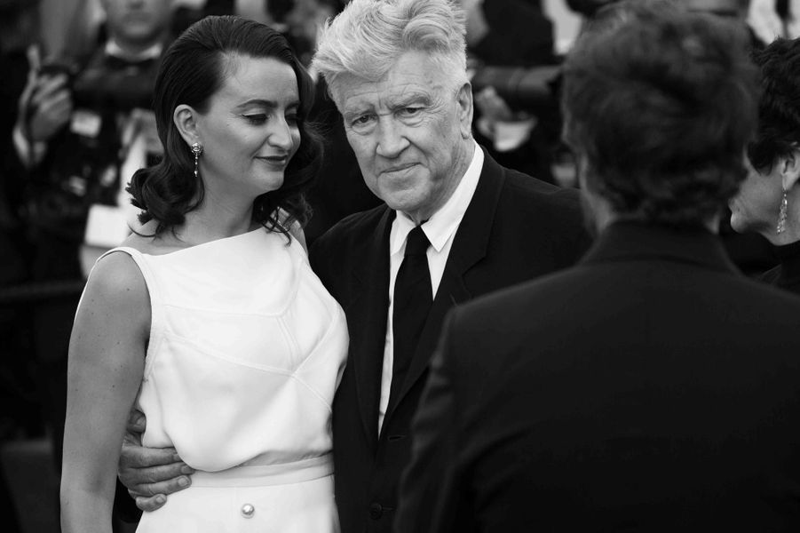 David Lynch et sa femme Emily Stofle.