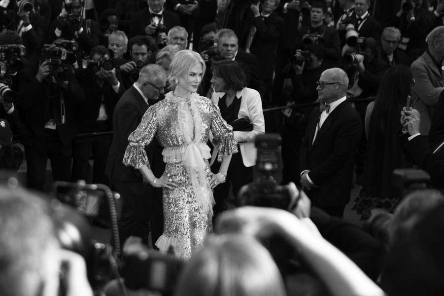 Nicole Kidman sur le tapis rouge cannois.