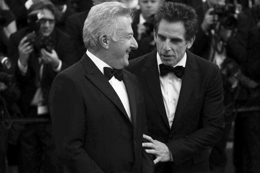 Dustin Hoffman etBen Stiller sur le tapis rouge cannois.