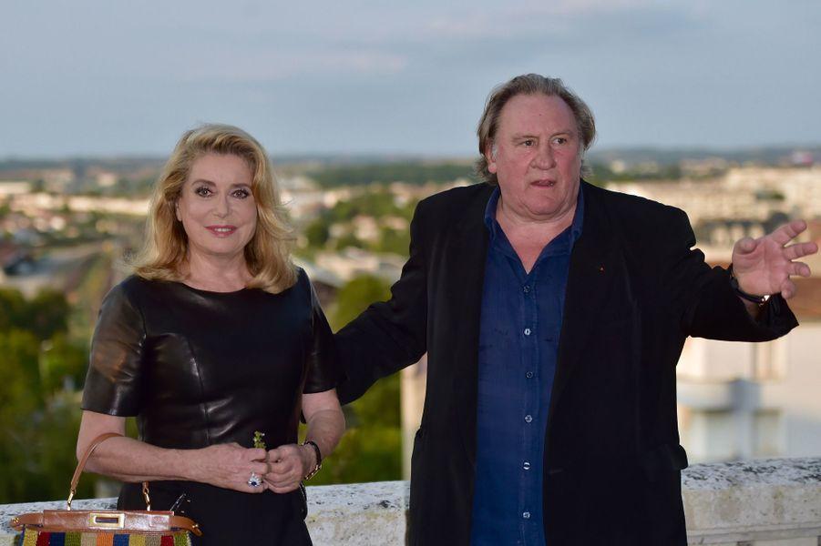 Catherine Deneuve et Gérard Depardieu à Angoulême.