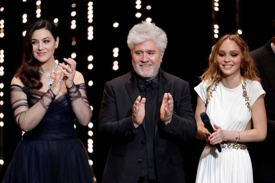 Monica Bellucci, Pedro Almodovar et Lily Rose Depp