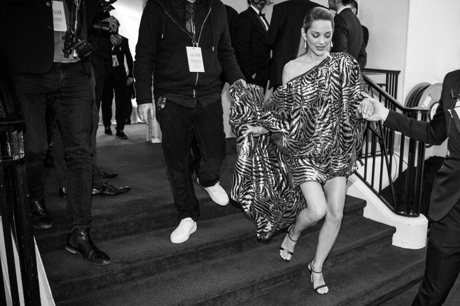 Marion Cotillard, en robe Halpern et bijoux Chopard.