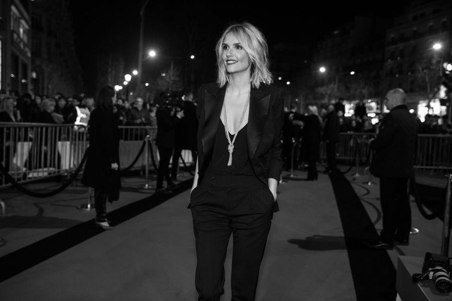 Laurence Arné sur le tapis rouge des César 2019.