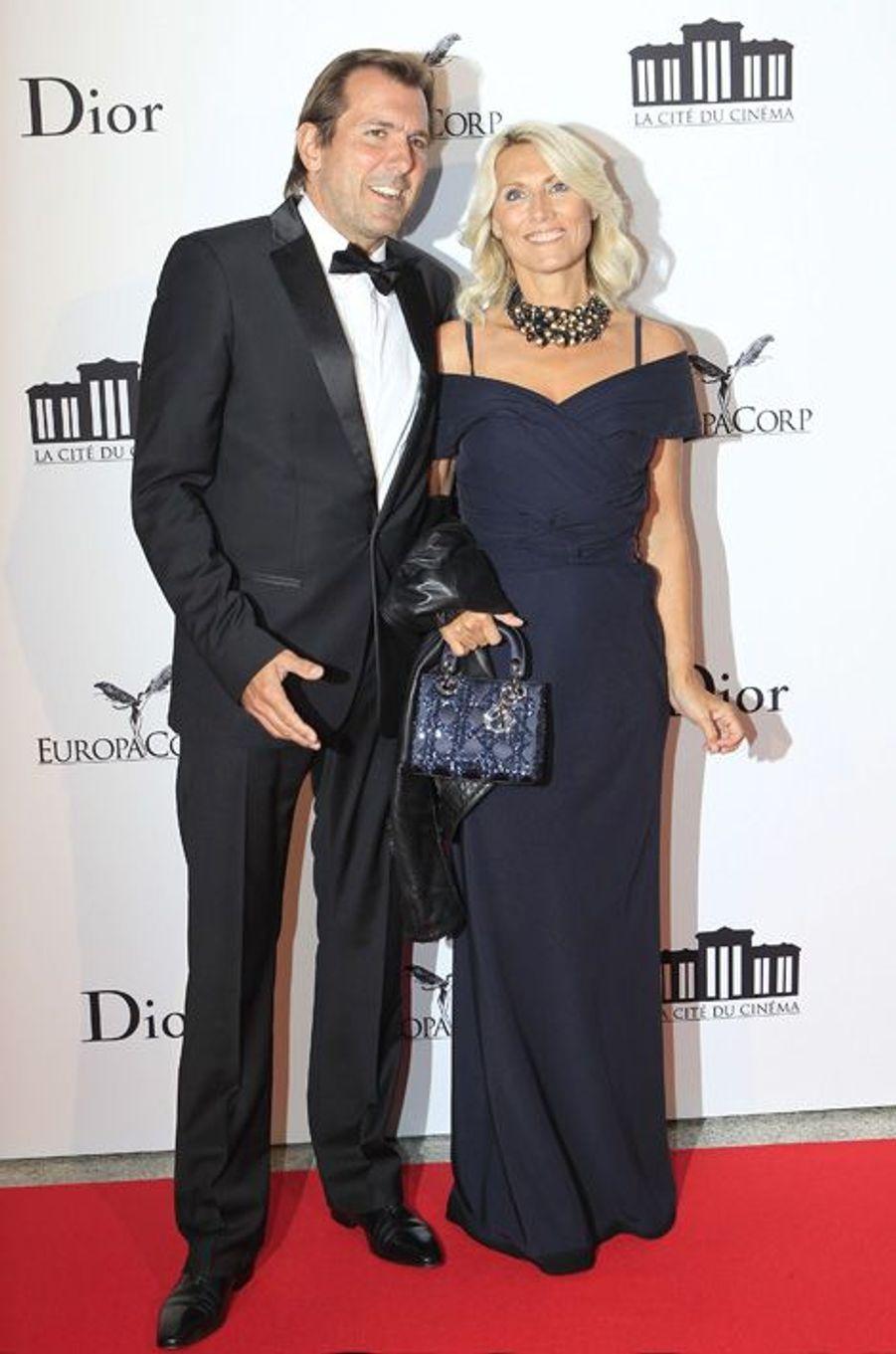 Christophe Lambert et Marie Sara à l'ouverture de la Cité du Cinéma, en septembre 2012.