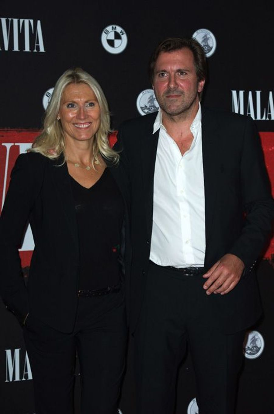 "Marie Sara et Christophe Lambert à la première de ""Malavita"", en octobre 2013."