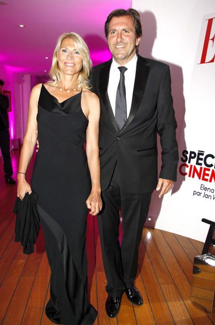 Marie Sara et Christophe Lambert au dîner par ELLE et Dior à Antibes, en mai 2011.