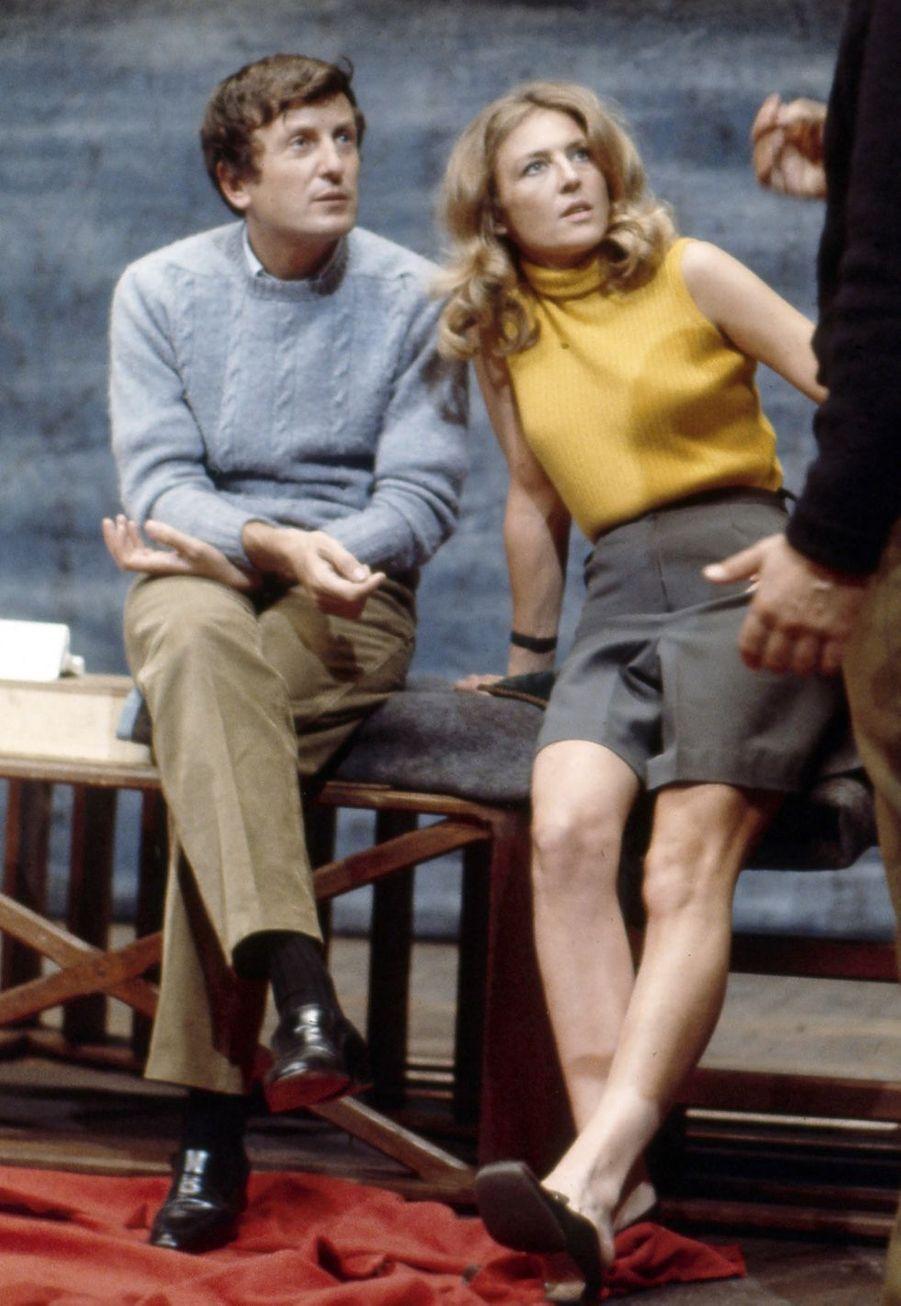 Claude Rich et l'actrice Nicole Courcel en 1968