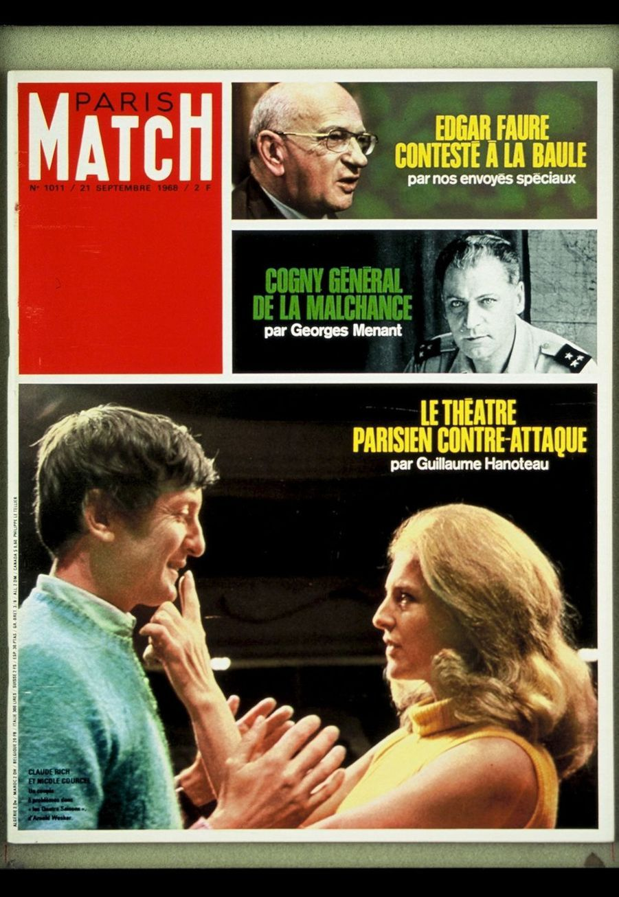 La couverture de Paris Match du 21 septembre 1968
